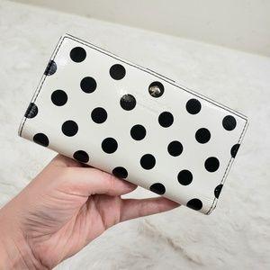 Kate Spade Patent leather polk dot wallet